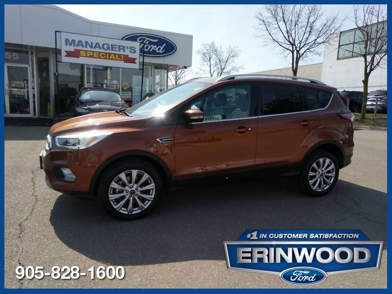 2017 Ford Escape Titanium - CPO 60M @1.9-20,000KM EXT WARRANTY